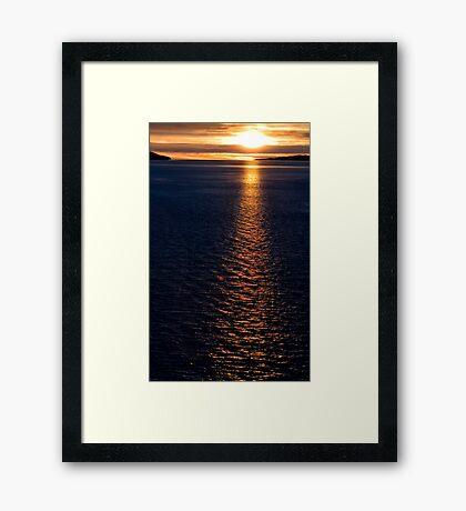 Alaskan Inside Passage  Framed Print