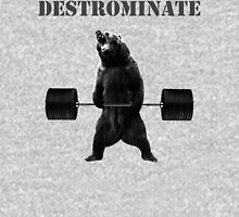 Destrominate - Deadlifting Bear T-Shirt