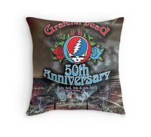 Grateful Dead 50th Anniversary  Throw Pillow
