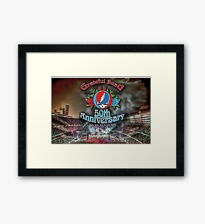 Grateful Dead 50th Anniversary  Framed Print