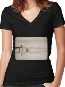 the long walk home Women's Fitted V-Neck T-Shirt
