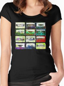 Cassettes #3 Women's Fitted Scoop T-Shirt