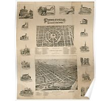 Panoramic Maps Circleville illustrated Poster