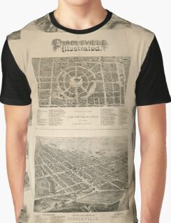 Panoramic Maps Circleville illustrated Graphic T-Shirt