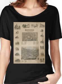 Panoramic Maps Circleville illustrated Women's Relaxed Fit T-Shirt