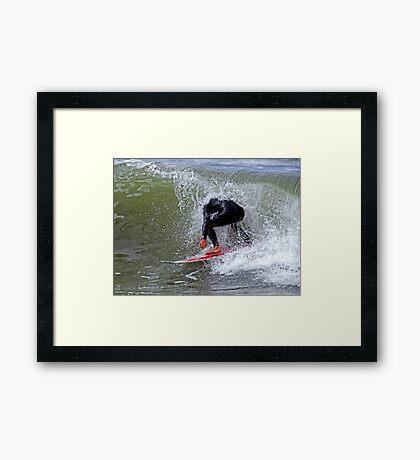 The Headless Surfer Framed Print