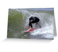 The Headless Surfer Greeting Card