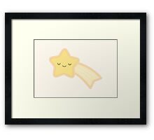 Happy Holidays - Shooting Star Framed Print