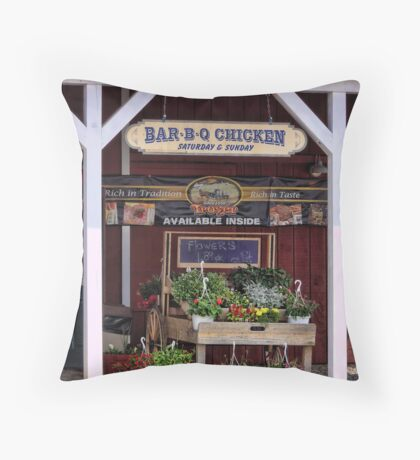 A Taste of Country and Chicken Throw Pillow