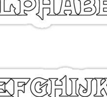 Mortal Kombat Alphabet Sticker