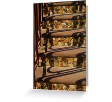 Steps and Wrought Iron Handrail Greeting Card