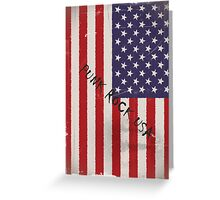 Punk Rock USA Greeting Card