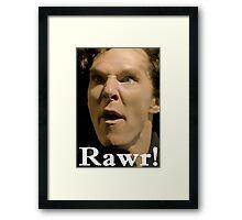 Sherlock--RAWR! Framed Print