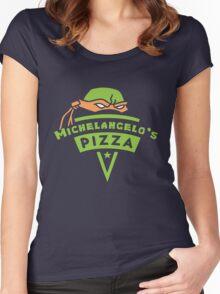 Michelangelo's Pizza Women's Fitted Scoop T-Shirt