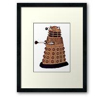 Bronze Dalek. Framed Print