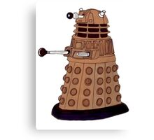 Bronze Dalek. Canvas Print