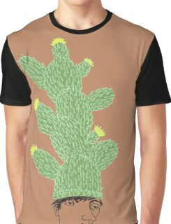 Cactus Hat Hipster Street Wear Graphic T-Shirt