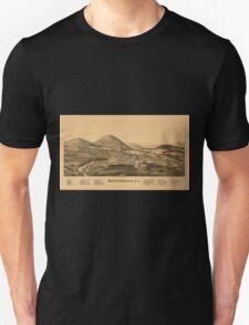 Panoramic Maps Warrensburgh NY Unisex T-Shirt