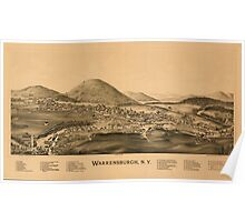Panoramic Maps Warrensburgh NY Poster