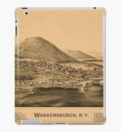 Panoramic Maps Warrensburgh NY iPad Case/Skin
