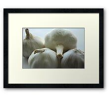 Garlic Bulbs Framed Print