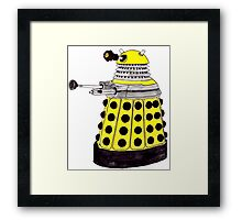New Paradigm Dalek--Yellow, Watercolour. Framed Print