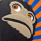 Anxious Gorilla (Painted Edition) by Sandy Edgar