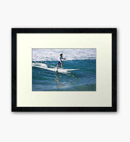 A Man & His Paddle Framed Print