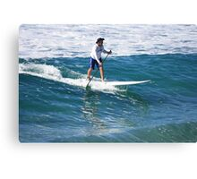 A Man & His Paddle Canvas Print
