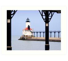 Michigan City East Pier Head Light, Indiana Art Print