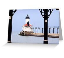 Michigan City East Pier Head Light, Indiana Greeting Card