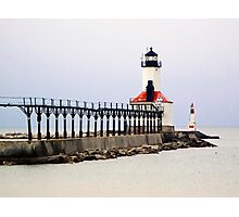 Michigan City East Pier Head Light, Indiana Photographic Print