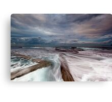 Walk the Line - Mona Vale, NSW Canvas Print