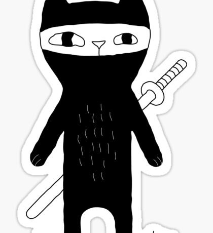 Ninja Cat Sticker