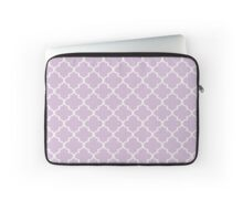 Purple Quatrefoil  Laptop Sleeve