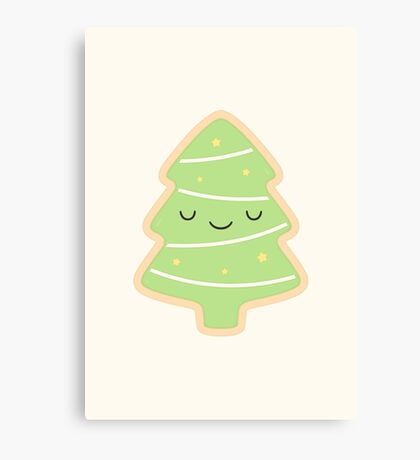 Happy Holidays - Christmas Tree Canvas Print