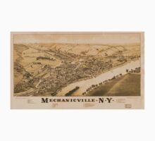 Panoramic Maps Mechanicville NY Baby Tee
