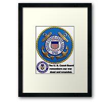 U. S. Coast Guard Remembers  Framed Print