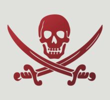 Pirate Flag Skull and Crossed Swords by Chillee Wilson T-Shirt