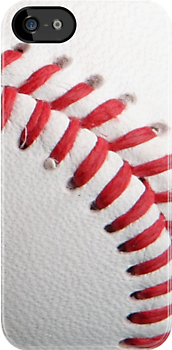 Baseball laces iPhone case 4/4s by Jnhamilt