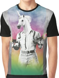 Badass Unicorn Graphic T-Shirt