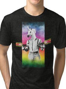 Badass Unicorn Tri-blend T-Shirt