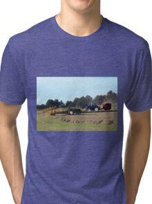 Raking and Baling Hay Tri-blend T-Shirt