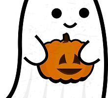 Cute Ghost's Jack o' Lantern by Cameron Giles