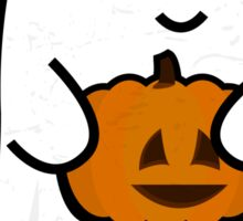 Cute Ghost's Jack o' Lantern Sticker