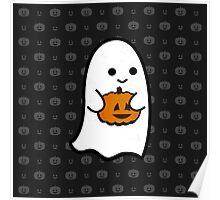 Cute Ghost's Jack o' Lantern Poster