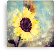 western country impressionism art watercolor sunflower Canvas Print