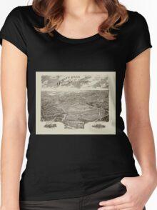 Panoramic Maps Ogontz Park Ogontz Montgomery Co Penna  Wm TB Roberts 410 Land Title Bldg Philadelphia Women's Fitted Scoop T-Shirt