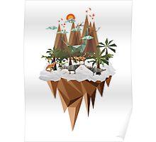 Dinosaur Land Poster