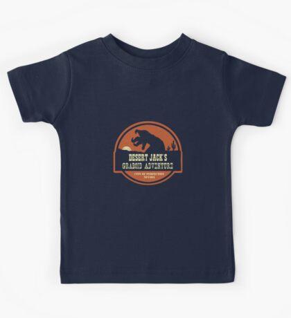 Desert Jack's Graboid Adventure logo Kids Clothes